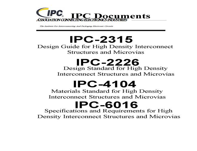 HDI电路板设计标准规范